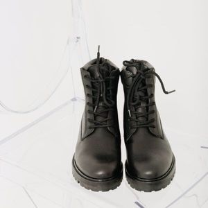 Vince Farley Black Leather Boots